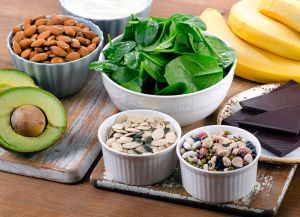 57073297 - foods high in magnesium. healthy eating.